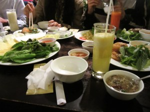 The meal we shared with the Hanoikids