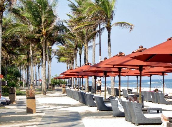 The beach at St Regis Bali.
